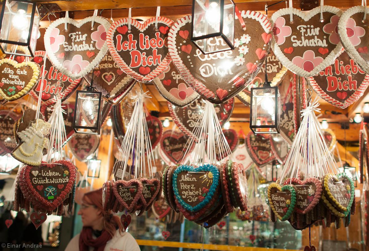 Weihnachtsmarkt Lebkuchenherzen