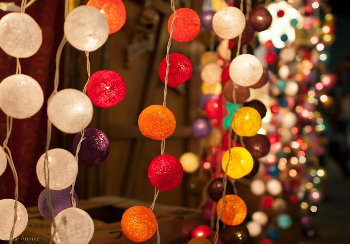 Weihnachtsmarkt Lichterketten